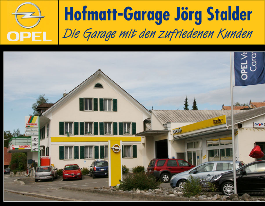 hofmattgarage menziken opel auto garagae infomix gratisanzeiger. Black Bedroom Furniture Sets. Home Design Ideas